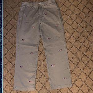 Vineyard Vines khaki pants  w whales NWOT 33 x 30